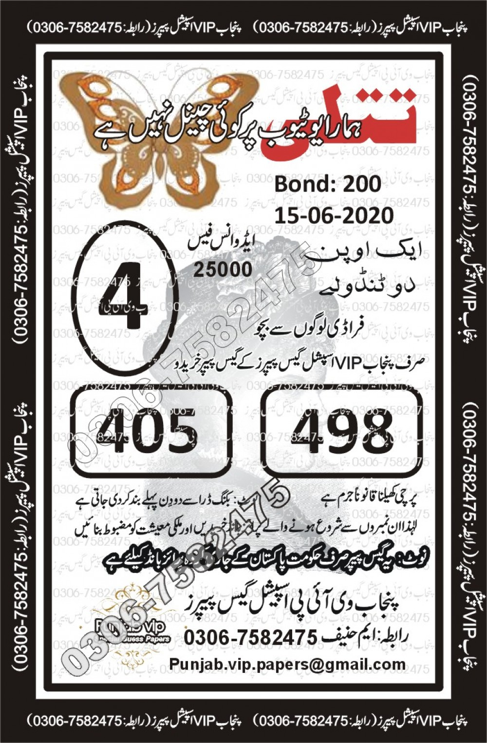 Punjab VIP Special Guess Papers